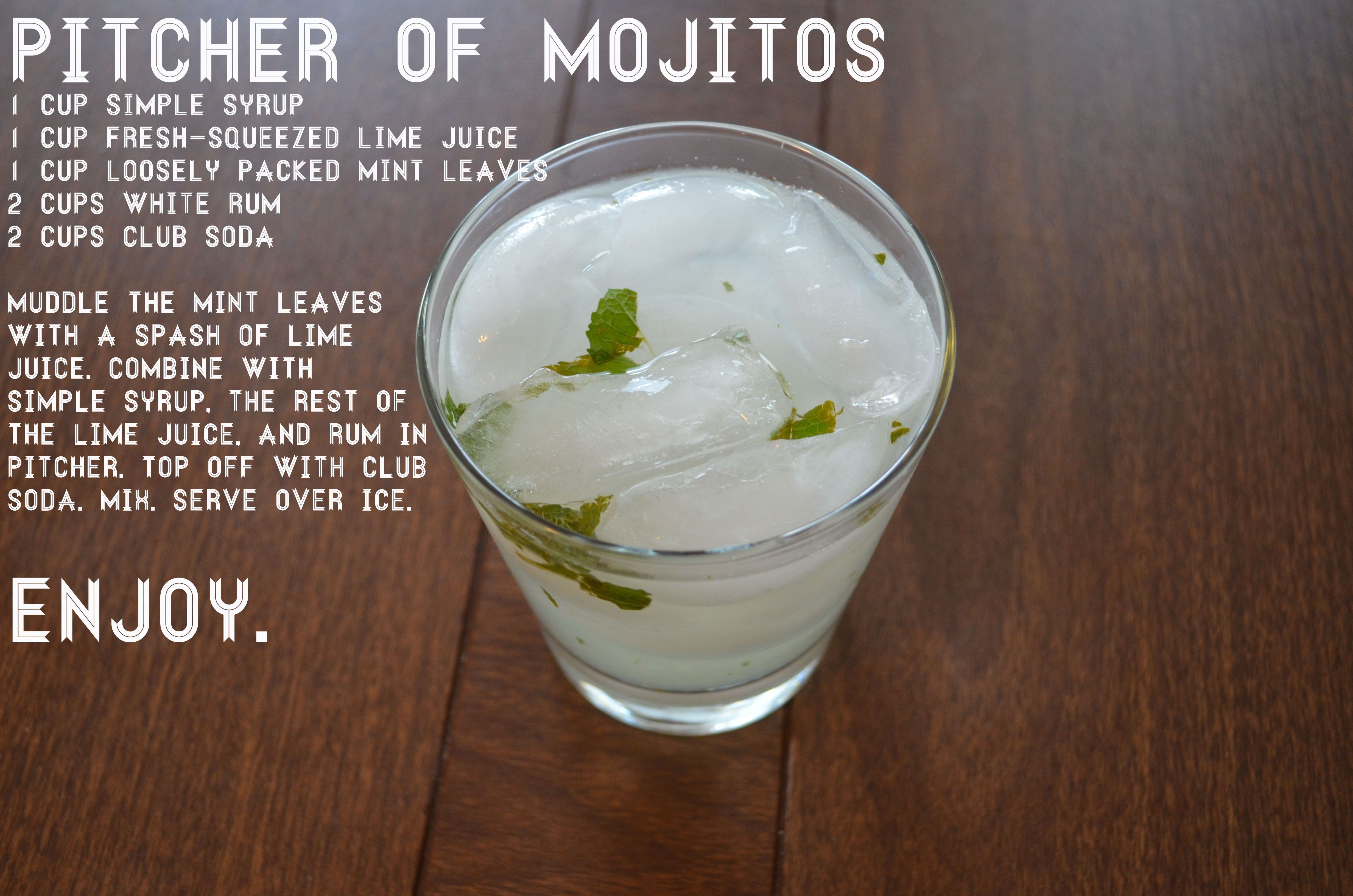 Pitcher Of Mojitos Recipe Simple Syrup Easy Mojito Recipe Mojito Recipe Mojito Recipe Simple Syrup