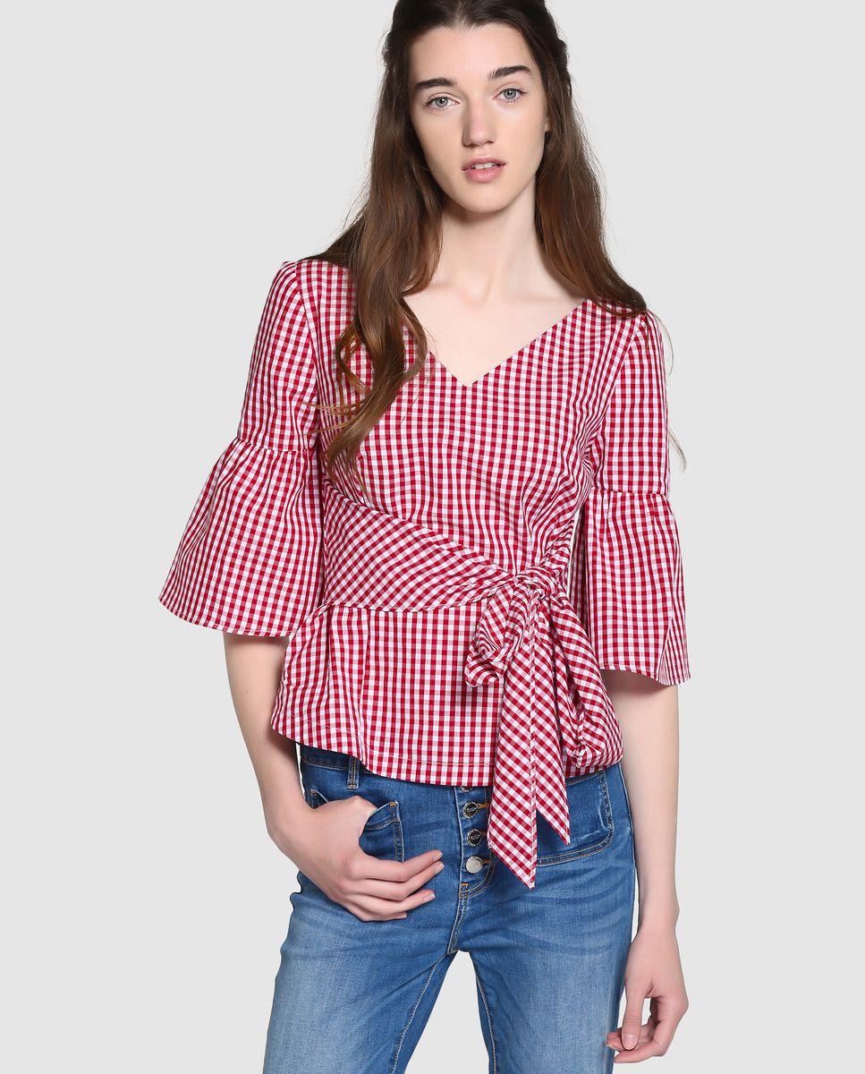 Blusa de oficina para mujer, blusas de gasa de verano