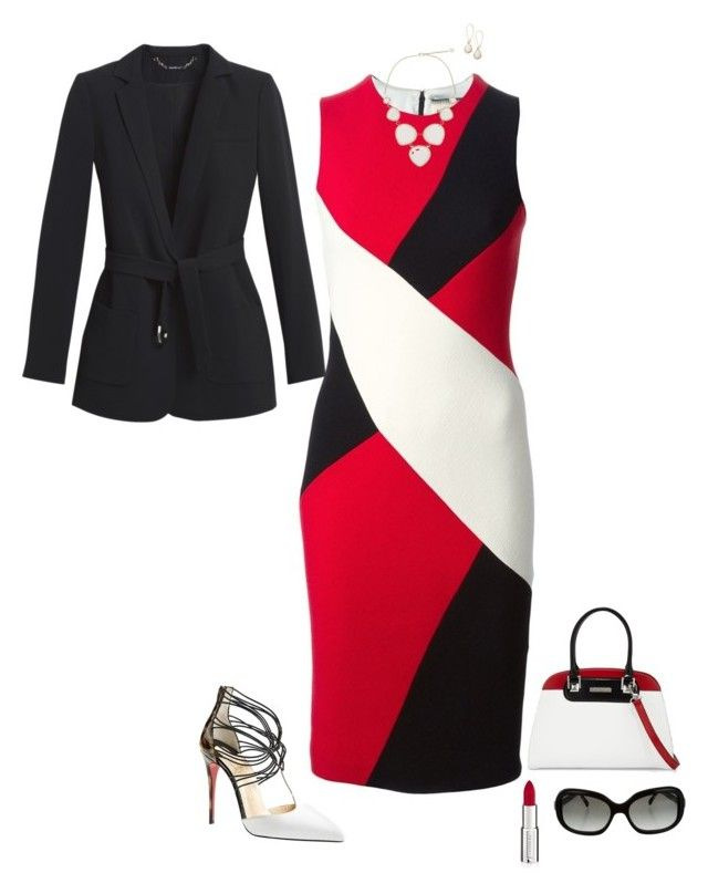 Color blocking by julietajj on Polyvore featuring polyvore fashion style FAUSTO PUGLISI White House Black Market Christian Louboutin Charles Jourdan Kendra Scott Chanel Givenchy