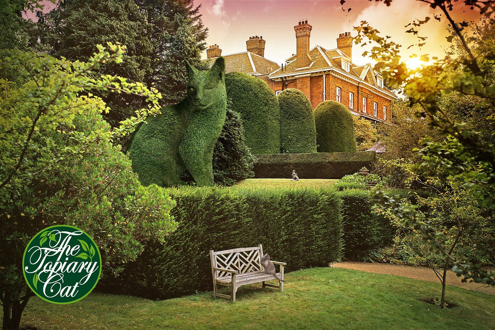 The Topiary Cat spots a friend | Art | Pinterest | Topiary, Cat and ...