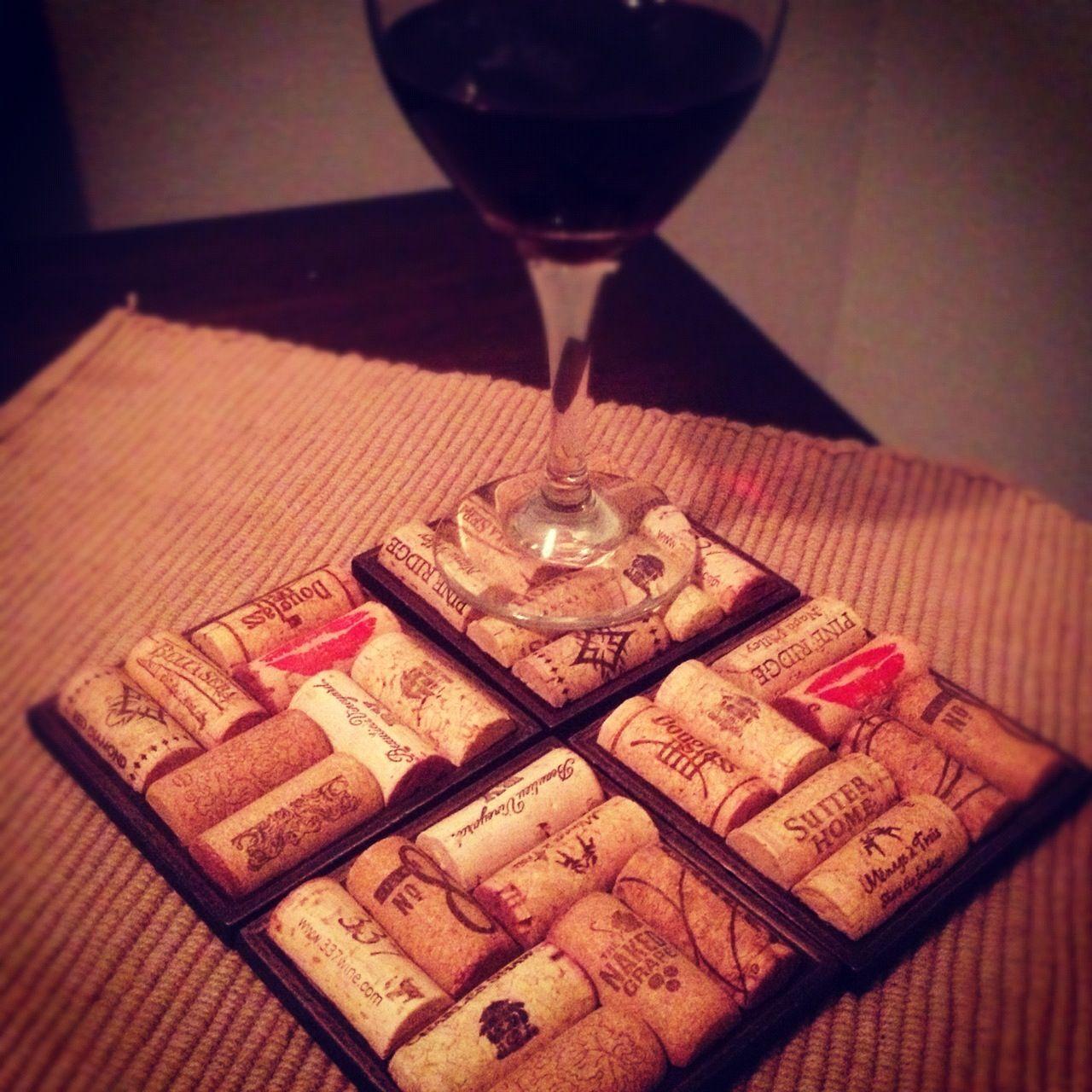 Wine Cork Coasters!