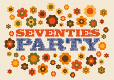 Coole Und Witzige Einladung In 70er Jahre Stil Mit Blumen Und Jeanslook Für  Die Seventies Motto Party #EinladungGeburtstag.de
