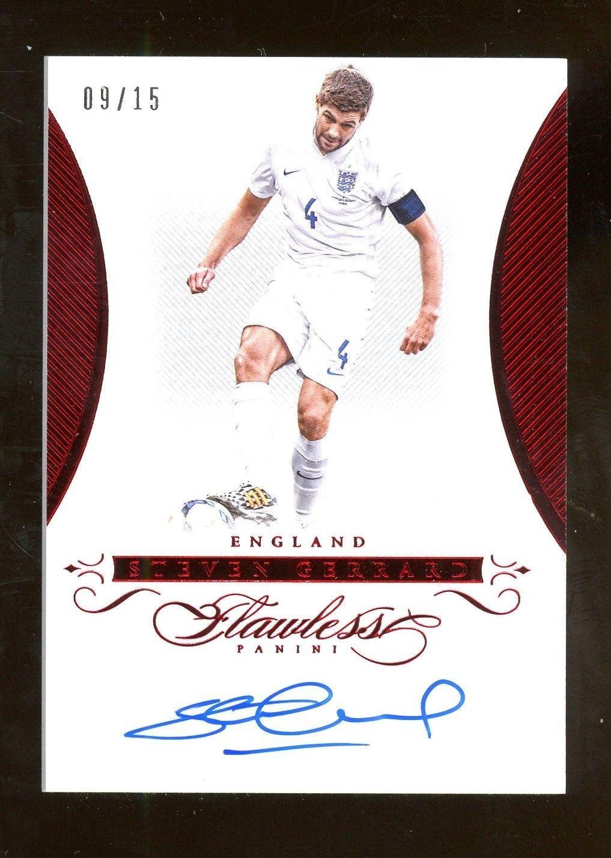 15c9c2718d6 2015-16 Flawless Soccer Ruy Steven Gerrard England AUTO 9 15  Soccer ...