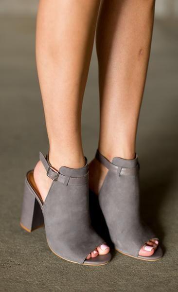39199a83cb8 A little peep toe never hurt nobody Details  Covered block heel Heel height…