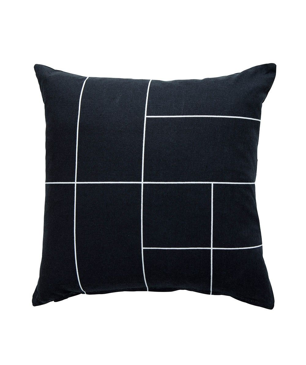 Line Cushion Black