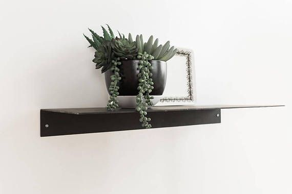 Metal Floating Kitchen Shelf 5u0027u0027 Deep Picture Industrial Modern Steel Wall  Shelves White Sheet Metal Raw Black Handmade Handcrafted
