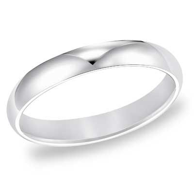 Zales Mens 3.0mm Wedding Band in 14K White Gold 6y8wD1xbX