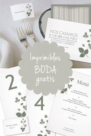 Imprimibles gratis personalizables para boda | tarjetas | Pinterest ...