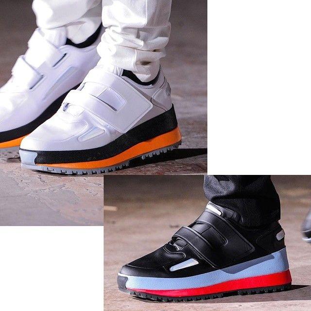 111a431d0c95f6 Raf Simons x Adidas Spring Summer 2015 Platform Single Velcro Strap Shoe