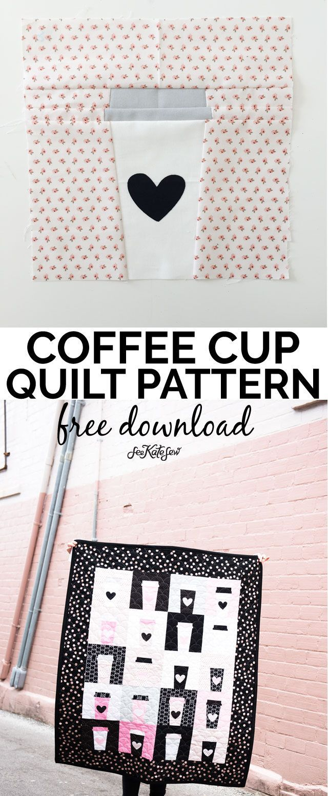 COFFEE CUP QUILT PATTERN {Free | Sewing projects, Tutorials and ...