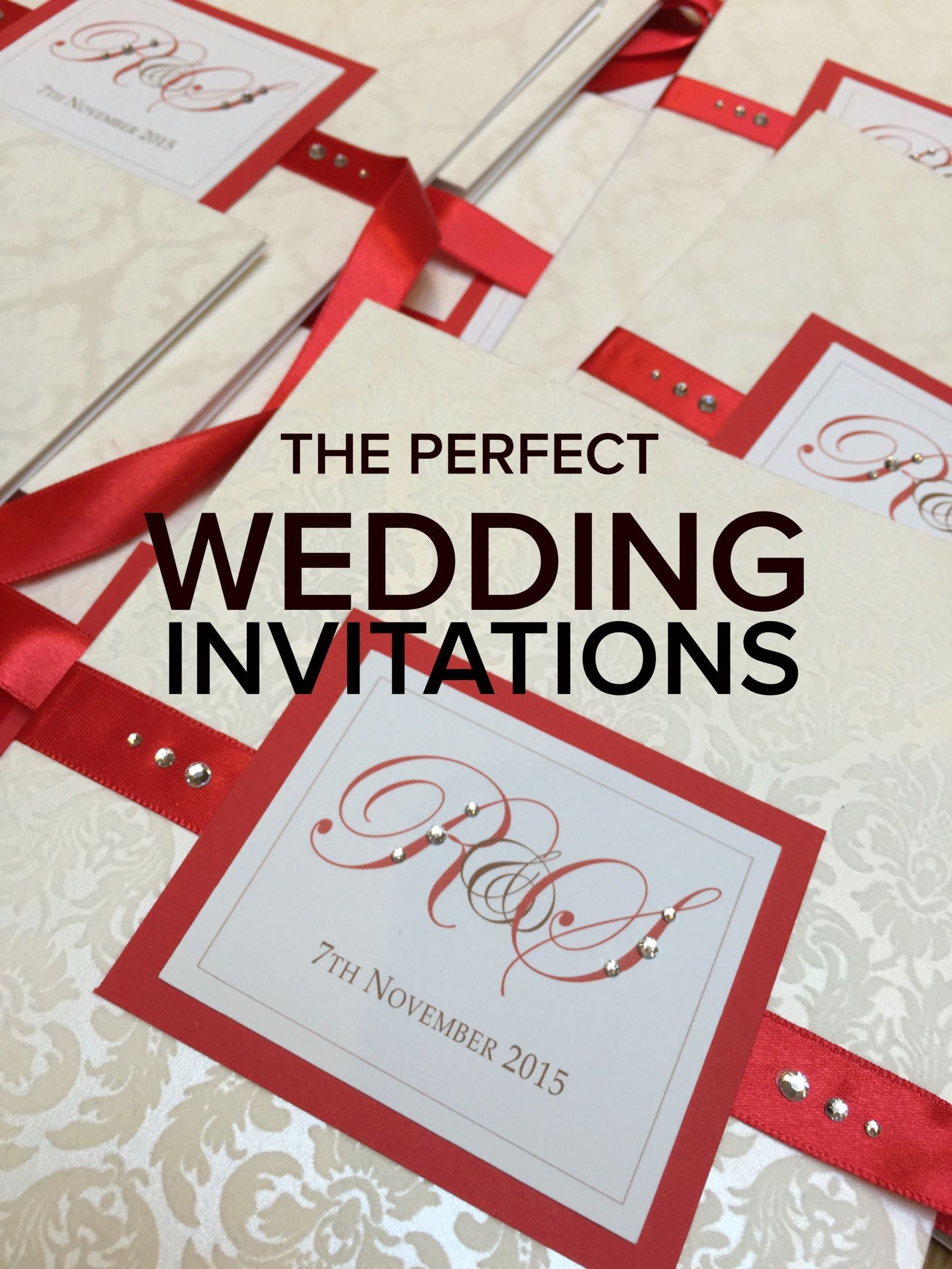 Beautiful Red Indian Wedding Invitation with flock card and satin ...