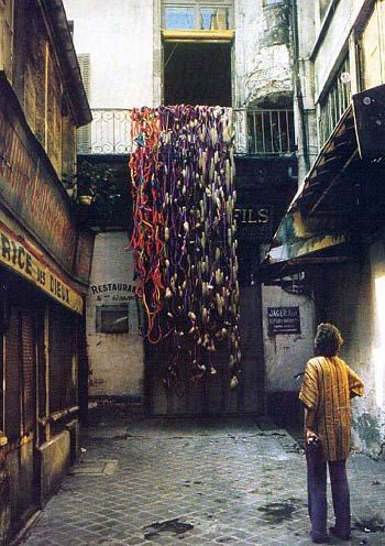"""""""Lianes Nantaises"""" 1973  Collection: Musée de la Tapisserie, Angers, France. #weaving #fiber #fibre"""