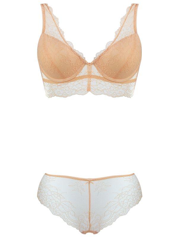 3ce2d1ff0ae6 Burvogue Sexy Deep V Lace Underwear Push Up Bra Sets Wholesale ...