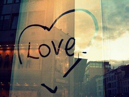 Love window quote