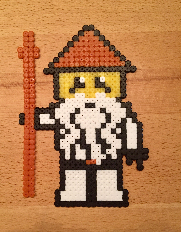 Ninjago Meister Wu Aus Bügelperlen Basteln Pinterest Pearler