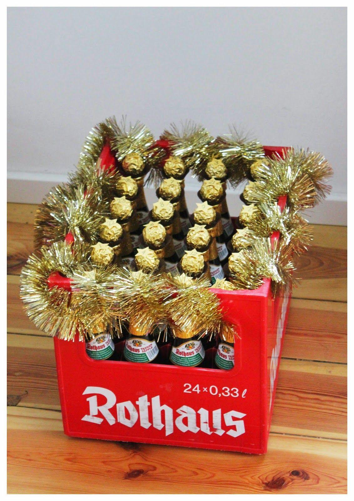 bier-advents-kalender für männer, mit rocher, beer-calendar | meine