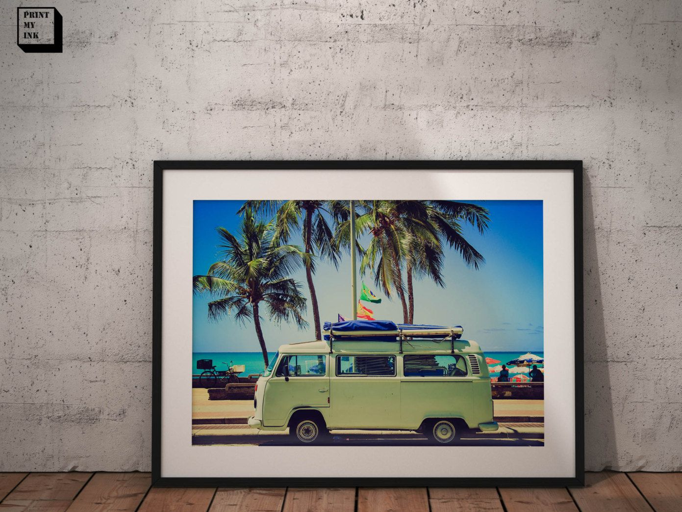 vw camper van print, vw photography, vw photo, wall art, home decor, photography print, surf print, desert, vollkswagen van, vintage, 70s by PrintmyInk on Etsy