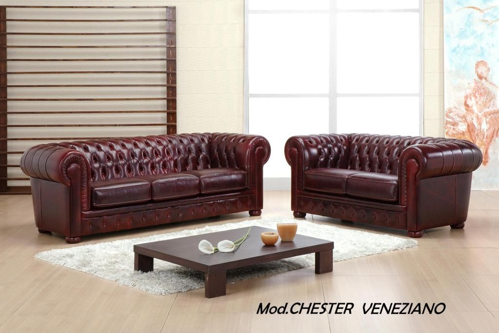 Chester Veneziano Leather Various Colours 3seater 2seater Armchair Also Sofa Bed And Corner Sofa Chesterfield Sofa Sofa Und Leder