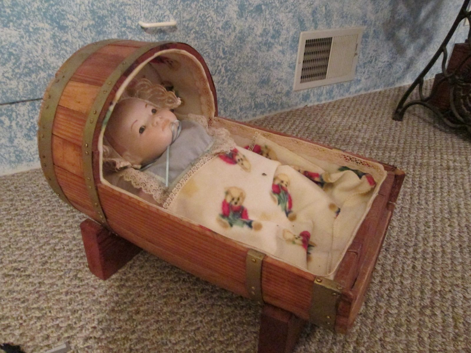 whiskey barrel doll cradle things i have made