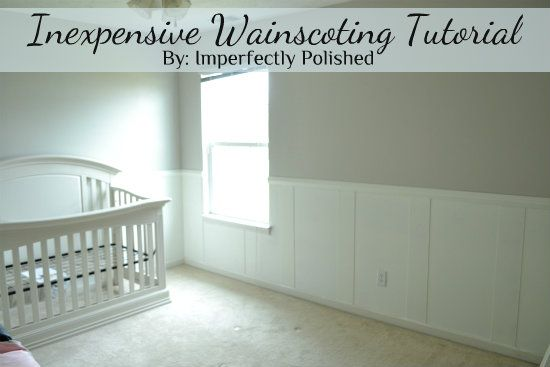 We Created A Beautiful Wainscoting In Our Little S Soon To Be Nur Hometalk