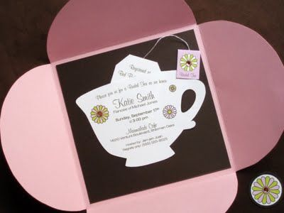 2 Tea Party Invitations Once You Have A Theme Send Out
