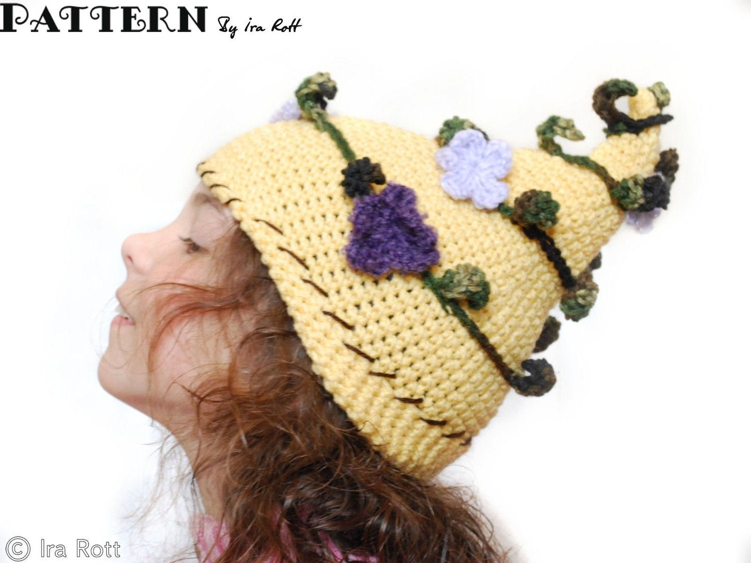 2014 Knitting crochet Fairy Hat - Floral, Beanie | All about knit ...