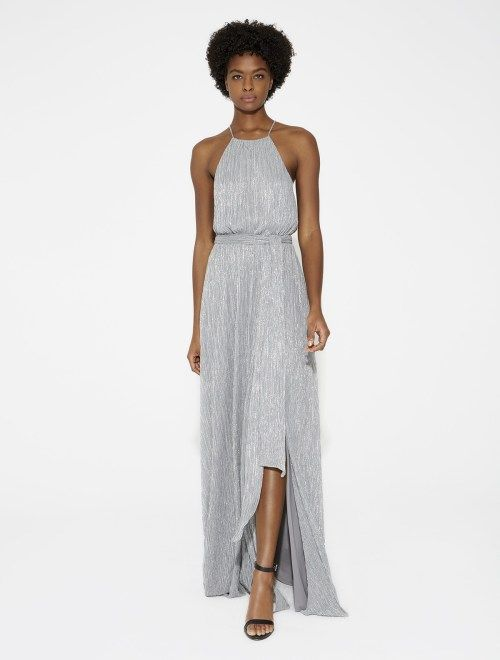 b822f21814 Flowy Lurex Jersey Gown with Sash