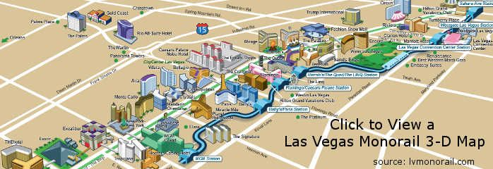 Las Vegas Monorail Las Vegas Strip Vegas Strip And Traffic - Us army strip map