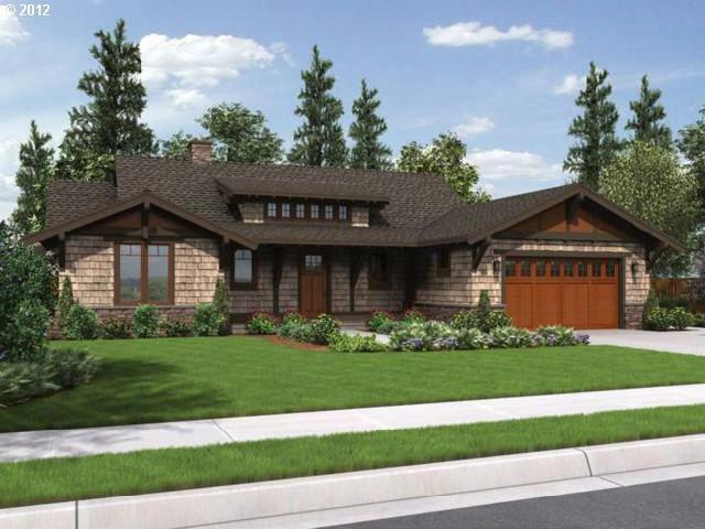 One Level Cedar Siding Ranch House Plans Craftsman House Plans Ranch Style House Plans