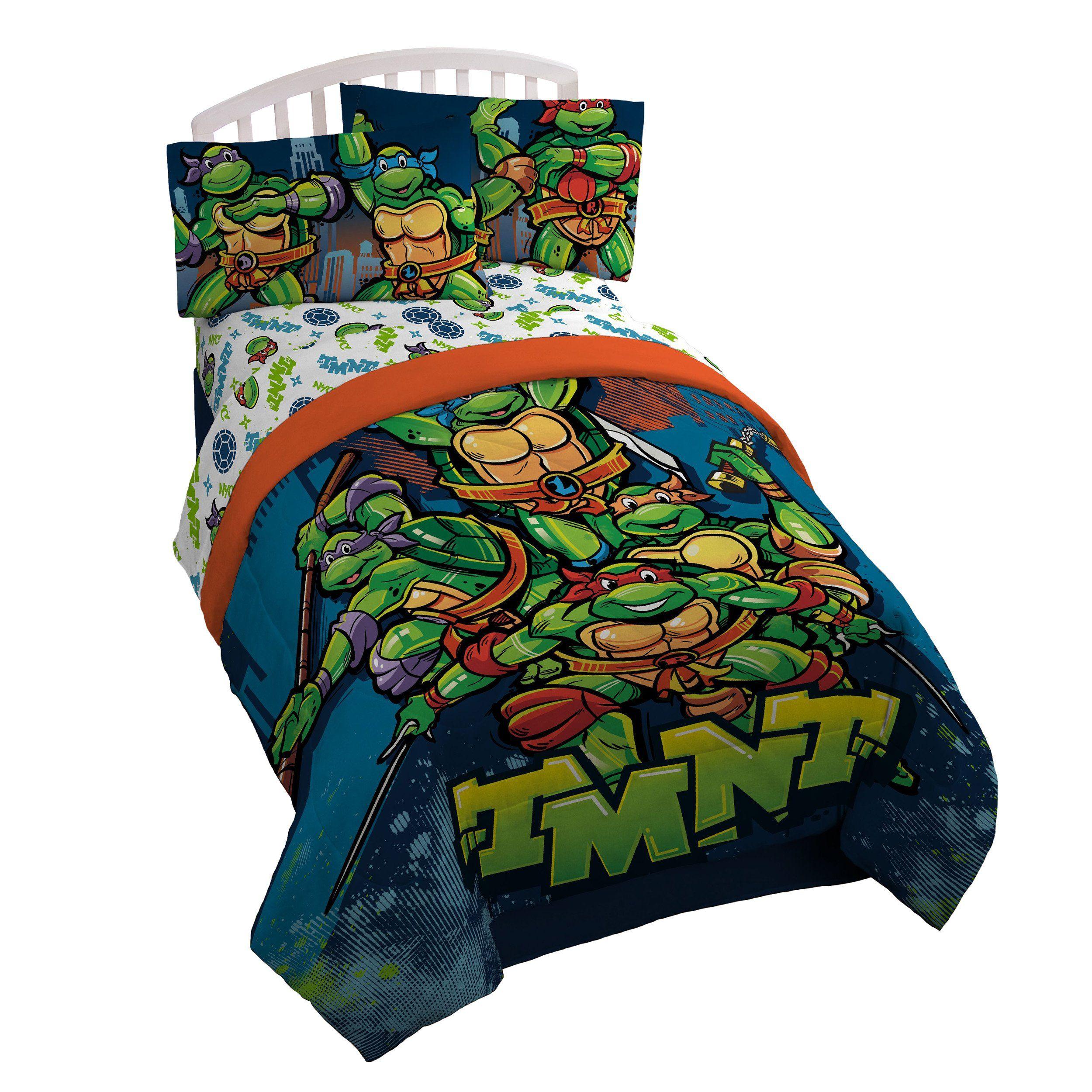 Nickelodeon Teenage Mutant Ninja Turtles Twin Full Reversible Comforter Click Imag Teenage Mutant Ninja Turtles Bedroom Ninja Turtle Bedroom Turtle Bedroom