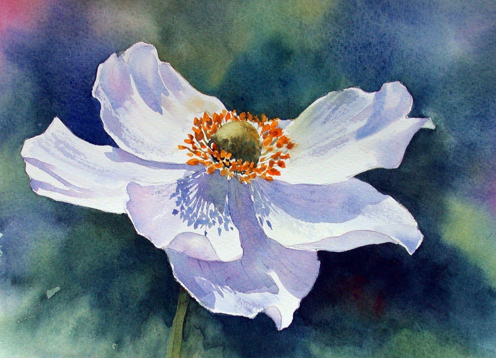 Ann Mortimer S Painting Blog August 2011 Flower Painting Flower Art Watercolor Flowers Paintings