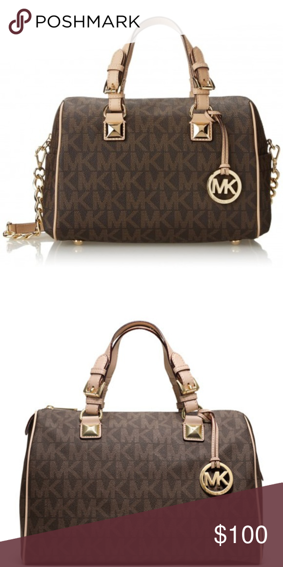 6d3601773f01 MICHAEL KORS SIGNATURE PRINT SATCHEL HANDBAG BAG Beautiful everyday handbag.  Large in size to hold