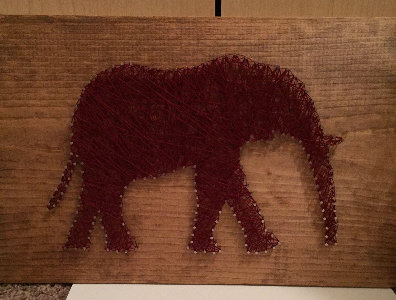 Elephant nail string art | Crafty - to buy | Pinterest | Elephant ...