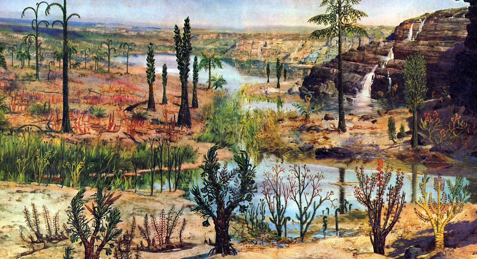 большим картинки с древними животными и растениями ельцин ширмочка или