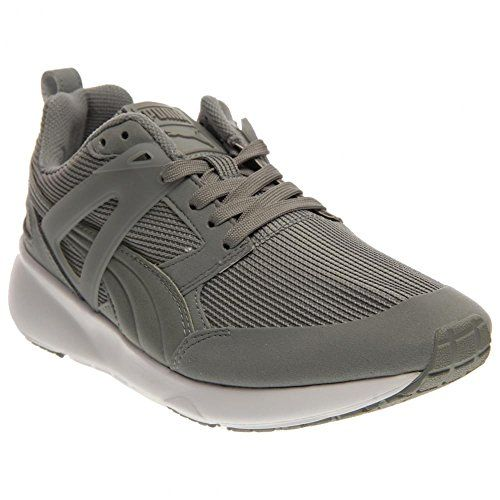PUMA Unisex Aril Limestone Grey/Dark Shadow Sneaker Men's 7.5, Women's ...
