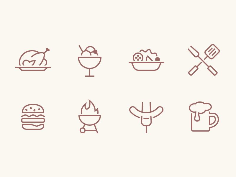 iOS Food Icons