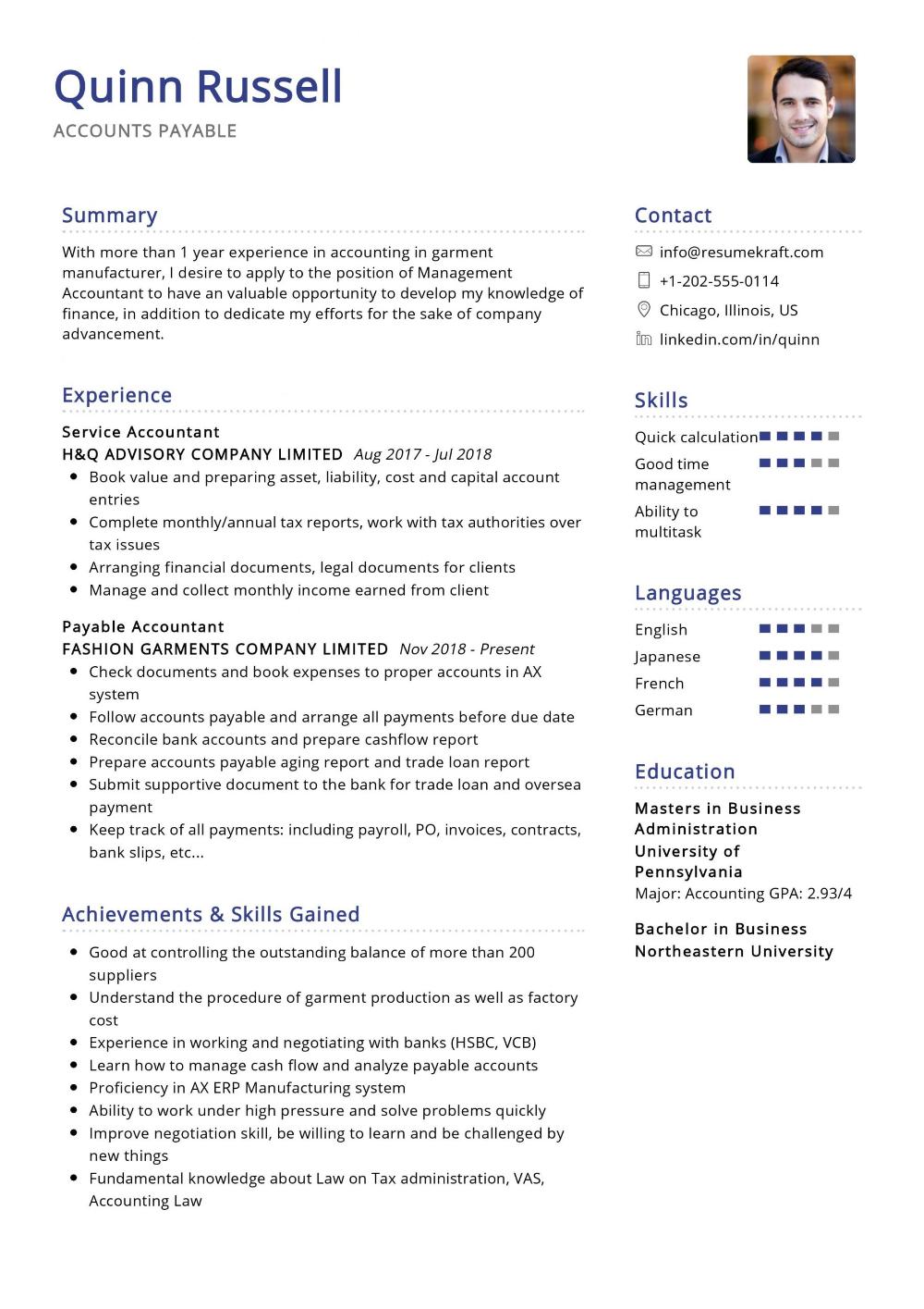 100 Professional Resume Samples For 2020 Resumekraft Accounts Payable Resume Sample Resume