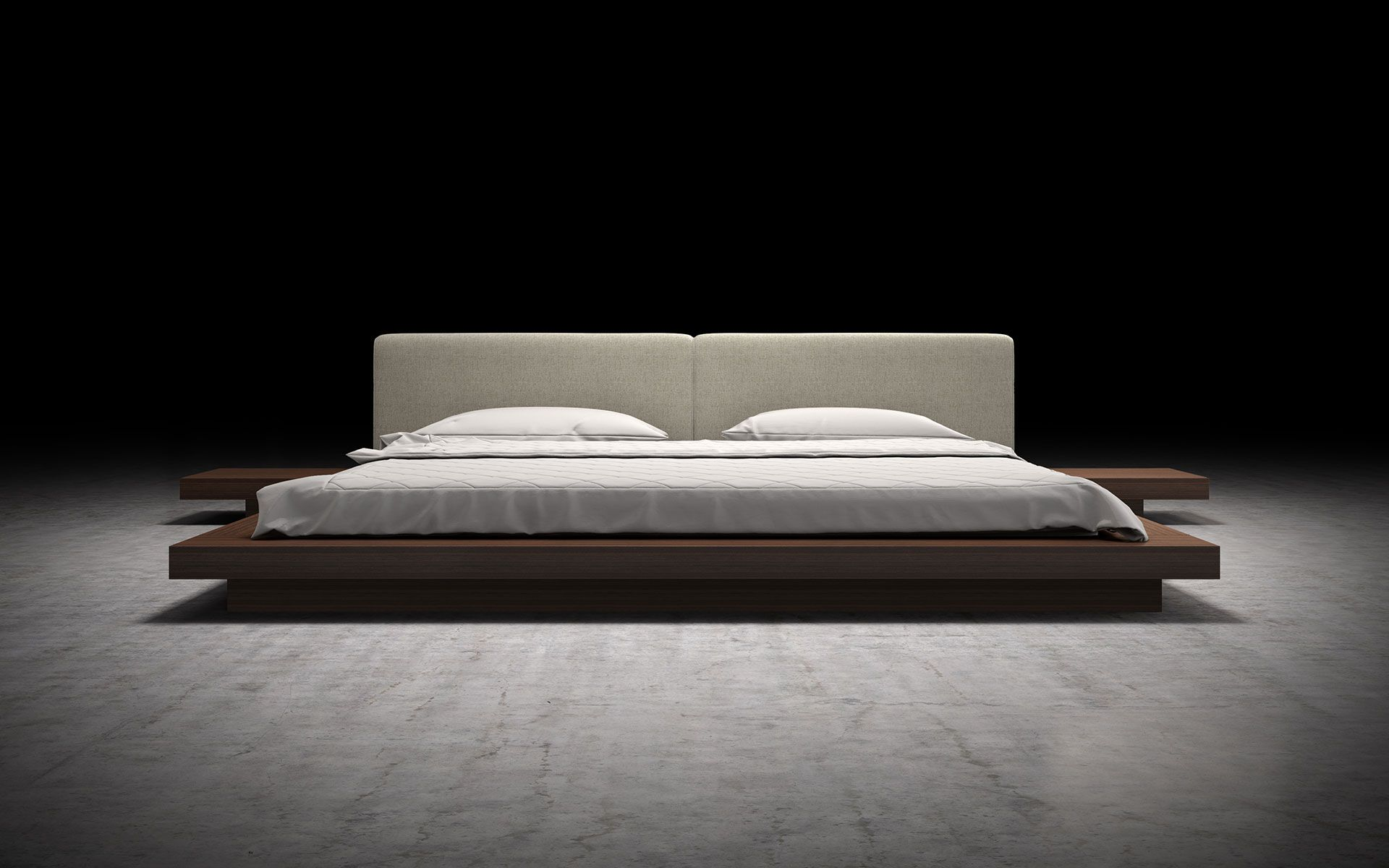 Modloft Worth Queen Bed Ii Hb39a Q2 Official Store With Images Japanese Platform Bed Cal King Bedding Bed