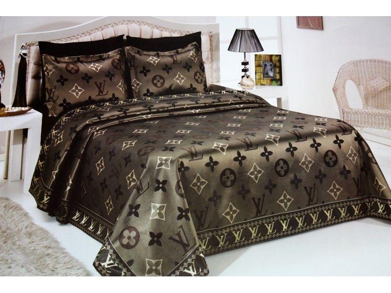 Louis Vuitton Bedspread Set Jacquard Bed Cover Designer Bed Sheets Jacquard Bedding Bed Spreads