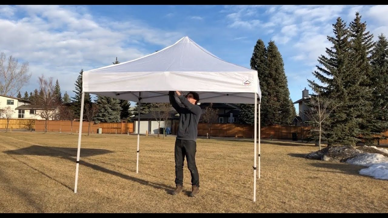 Instant Canopy 10x10 Setup One Person And Take Down Canopy Canopy Tent