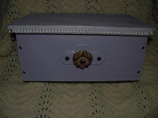 Shabby & Chic Vintage Style Purple Distressed Mailbox
