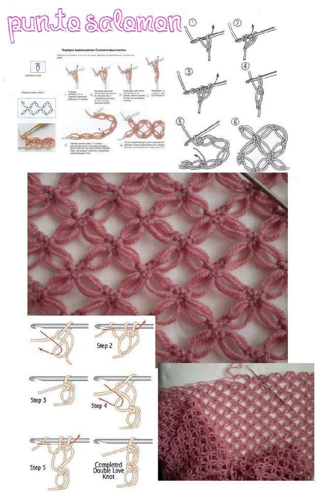 Punto Salomon Tutorial y Patrón Grafico - Patrones Crochet | CROCHET ...