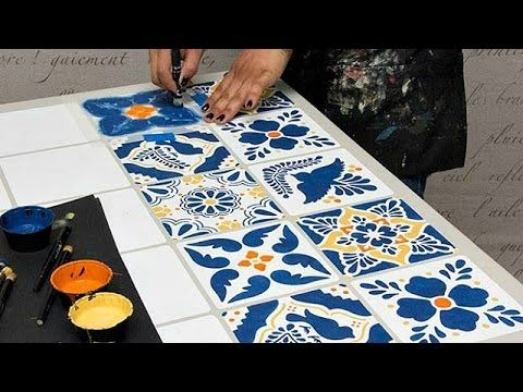 Mexican Talavera Tiles Wall U0026 Furniture Stencils | Royal Design Studio