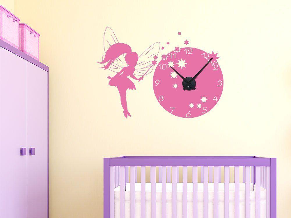 Wandtattoo Uhr Wanduhr Mit Uhrwerk Fur Das Kinderzimmer Einer