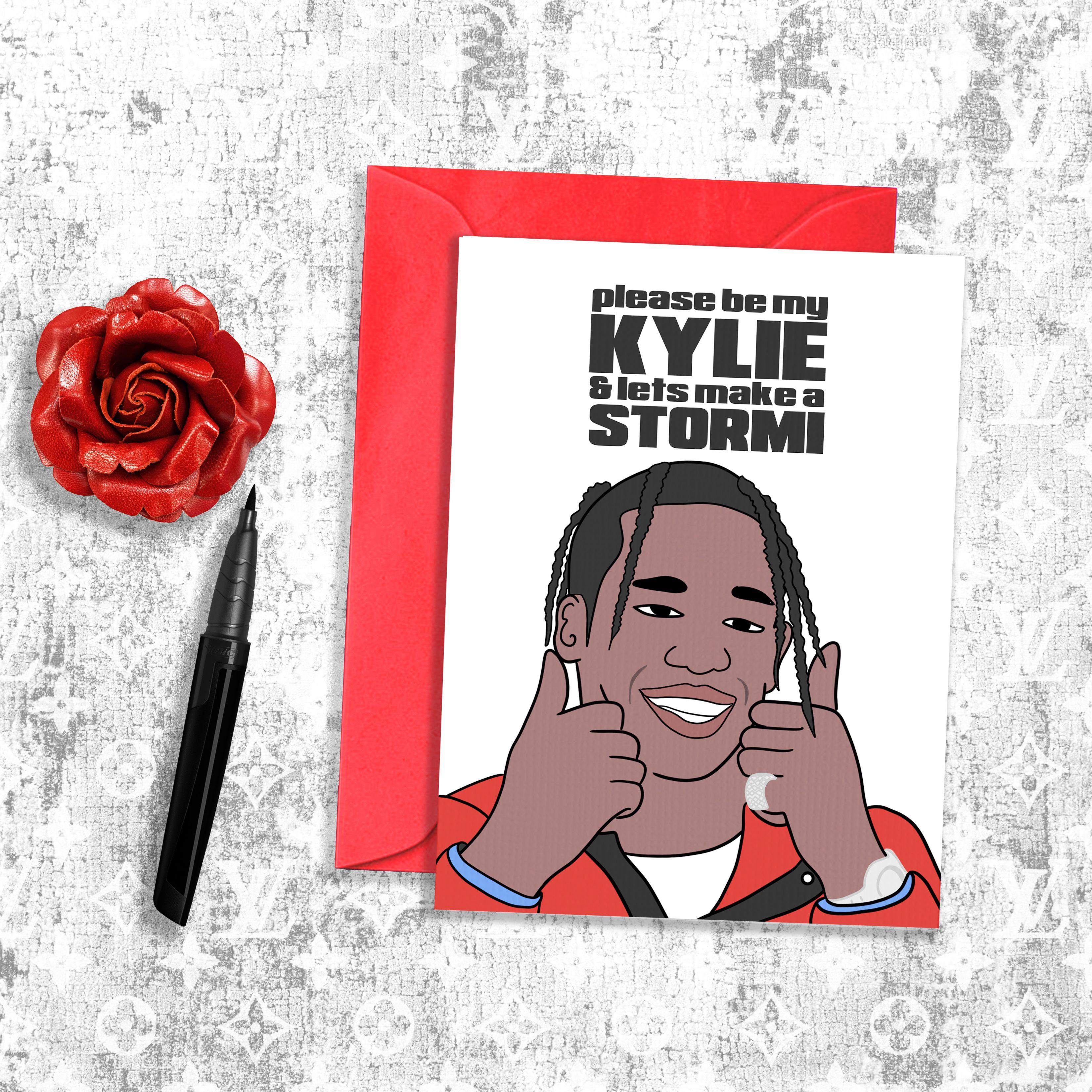 Travis Scott Kylie Jenner Inspired Valentine's Day Card