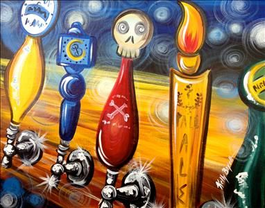 On Tap Sarasota Fl Painting Class Painting With A Twist Beer Painting Etsy Painting Abstract Painting Inspiration