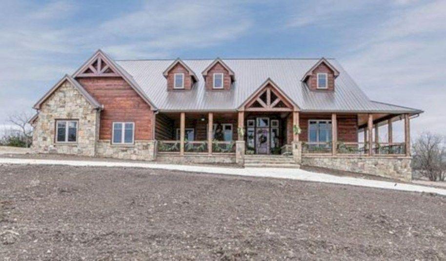 41 Amazing Rustic Farmhouse Exterior Designs Ideas #rustichomes
