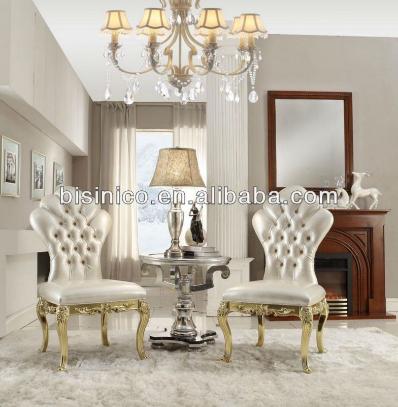 New Classical Living Room Furniture Set,Victorian Series,Wing Chairs U0026  Small Coffee Table,Whiteu0026gold Color,Elegant And Royal   Buy Victorian Style  Living ...