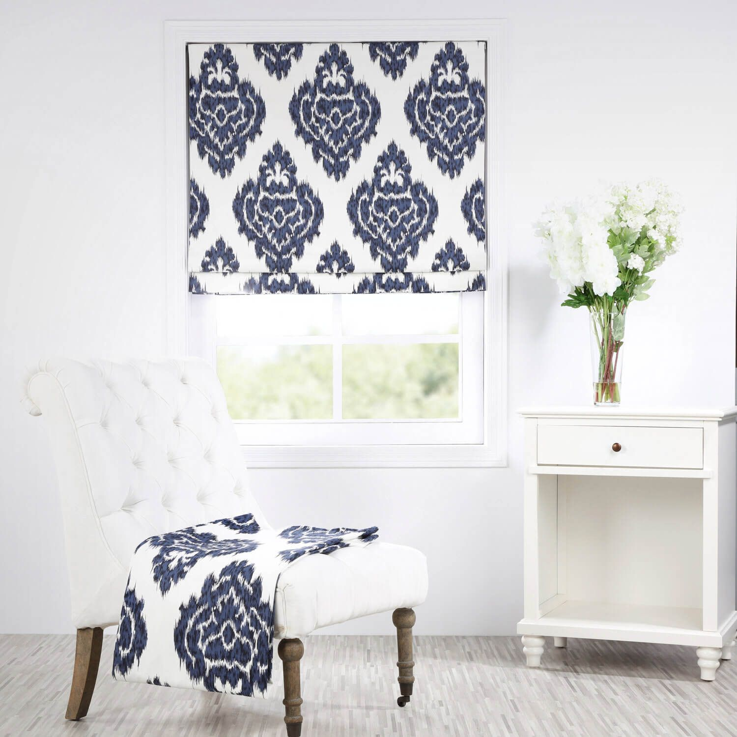 Buy Signature Printed Cotton Twill Roman Shade at Half Price Drapes ...
