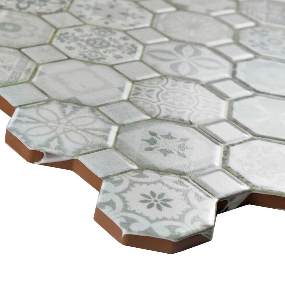 Merola Tile Tessera White 12 1 4 In X 12 1 4 In Ceramic Floor And Wall Tile 14 11 Sq Ft Case Fosteswt The Home Depot In 2020 Ceramic Floor Merola Tile Octagon Tile